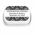 Damask Wedding Custom Mint Tins