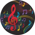 Dancing Music Notes Dinner Plates