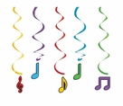 Dancing Music Notes Dizzy Danglers Hanging Decorations
