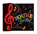 Dancing Music Notes Invitations