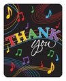 Dancing Music Notes Thank You Cards
