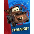 Disney Cars 2 Thank You Notes