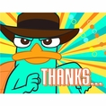 Disney Phineas and Ferb Agent P Thank You Notes