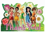 Disney Tinkerbell Postcard Thank You