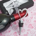 Distinctively Modern Heart Design Wine Bottle Stoppers