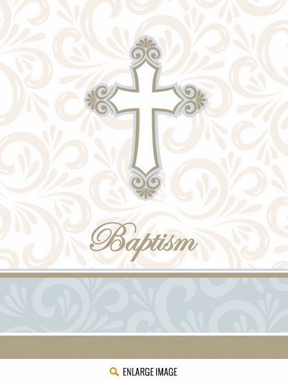 Divinity Invitations Fill In - Baptism