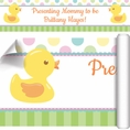 Duckie Dots Baby Shower Custom Banner