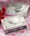 Elegant Reflections Collection Heart Design Mirror Compact Favors