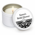 Ever After Bridal Shower Custom Candles