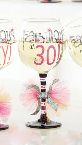 Fabulous at 30 Keepsake Wine Glass