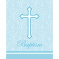 Faith Blue Baptism Invitations