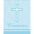 Faith Blue Communion Invitations