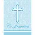 Faith Blue Confirmation Invitations