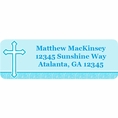 Faith Blue Custom Address Labels
