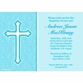 Faith Blue Custom Invitation