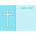 Faith Blue Custom Thank You Note