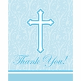 Faith Blue Thank You Notes
