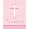 Faith Pink Communion Invitations