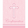 Faith Pink Confirmation Invitations
