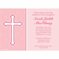 Faith Pink Custom Invitation