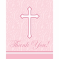 Faith Pink Thank You Notes
