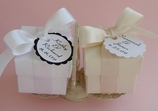 Favor Box Kit With Hang Tag and Ribbon