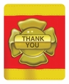 Firefighter Foldover Thank You Notes
