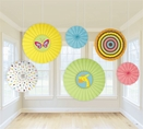 Fisher Price Baby Paper Fan Hanging Decorations