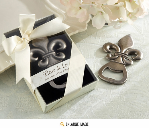 Elegant Fleur De Lis Bottle Opener In a lovely gift box.
