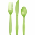 Fresh Lime Assorted Plastic Cutlery 24 Count