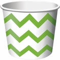 Fresh Lime Chevron Paper Treat & Ice Cream Cups