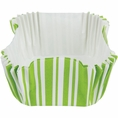 Fresh Lime Stripe Square Baking Cups