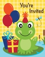 Frog Pond Fun Invitations
