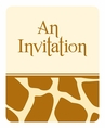 Giraffe Animal Print Invitations