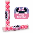 Girl Mouse Custom Birthday Candy Tubes