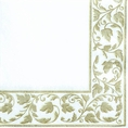 Gold Damask Beverage Napkins