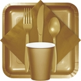 Glittering Gold Party Tableware
