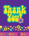Groovy Girl Party Flower Power Thank You Cards