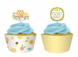 Happi Tree Owl Baby Shower Cupcake Decorating Kit