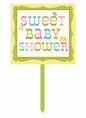 Happi Tree Owl Baby Shower Decorative Yard Sign