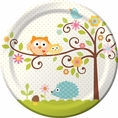 Happi Tree Owl Baby Shower Dinner Plates