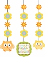 Happi Tree Owl Baby Shower Hanging Cutouts