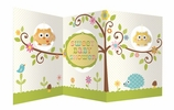 Happi Tree Owl Baby Shower Tri-fold Centerpiece