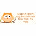 Happi Tree Owl Baby Shower Custom Address Labels