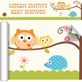 Happi Tree Owl Baby Shower Custom Banner