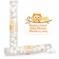 Happi Tree Owl Baby Shower Custom Candy Tubes