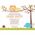 Happi Tree Owl Baby Shower Custom Invitation