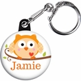Happi Tree Owl Baby Shower Custom Keychain