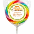 Happi Tree Owl Baby Shower Custom Lollipops