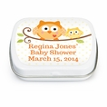 Happi Tree Owl Baby Shower Custom Mint Tins